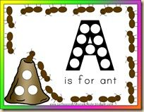 A is for Ant Printables from Confessions of a Homeschooler
