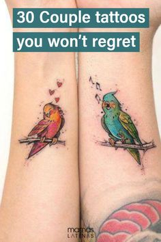 30 Couple tattoos you won't ever regret because they work even if you break up. #tattoos #mamaslatinas
