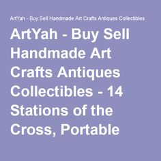 ArtYah - Buy Sell Handmade Art Crafts Antiques Collectibles - 14 Stations of the Cross, Portable Religious Triptych, Religious Scene, Passion