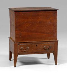 Walnut sugar chest, Piedmont North Carolina, 19th C.