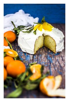 Ricotta & tangerine cake Blue Cakes, Love Cake, Cake Cookies, Ricotta, Camembert Cheese, Zucchini, Blues, Cooking, Food