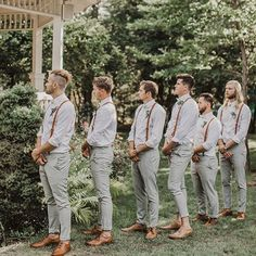 Groomsmen Suspenders, Groomsmen Grey, Groomsmen Outfits, Leather Suspenders, Groom And Groomsmen Attire, Bridesmaids And Groomsmen, Wedding Suspenders, Groomsmen Colours, Rustic Wedding Groomsmen