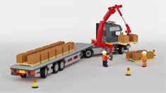 Scania T Topline Lego City Truck, Lego Tractor, Lego Crane, Construction Lego, Lego Building Sets, Lego Fire, Lego City Sets, Lego Pictures, Lego Builder
