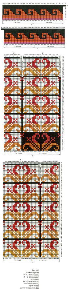 Alle modeller av produkter med ornamenter / kvinner, sokker (modell 10) / Part 2