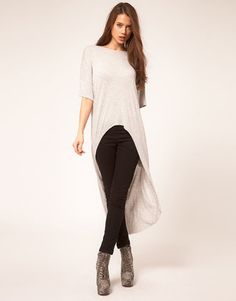 ShopStyle: ASOS Top With Slouchy Extreme Dip Back