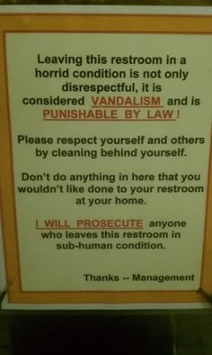 These signs will make you chuckle while you're taking care of business.