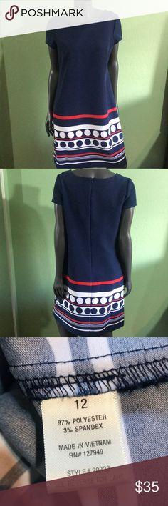 """W's blue dot vintage dress Shoulder 16"""" Pit 20"""" Length 35"""" Dresses"""