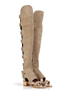 Laurence Dacade open toe suede Florence boot