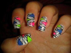 ZEBRA!! by R7777 - Nail Art Gallery nailartgallery.nailsmag.com by Nails Magazine www.nailsmag.com #nailart