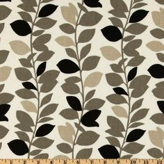 Waverly Leaf Garland (Panther) Fabric