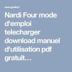 Nardi Four mode d'emploi telecharger download manuel d'utilisation pdf gratuit…