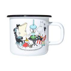 Moominmamma & Moominpappa enamel mug