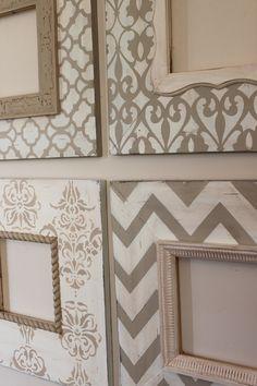 Custom listing: Set of 4-8x8 Distressed Wood por deltagirlframes