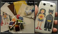 cell phone cross stitch