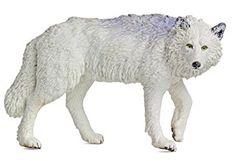 Safari Ltd NAW Weisser Wolf 220029 handbemalte Sammelfigur