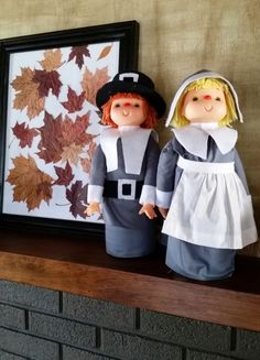 These retro Thanksgiving decorations are actually made from 2 liter bottles. Make these grateful pilgrims for yourself. Diy Thanksgiving, Thanksgiving Decorations, Fall Decor, Holiday Decor, Pilgrims, Fall Season, Warm And Cozy, Seasons, Retro