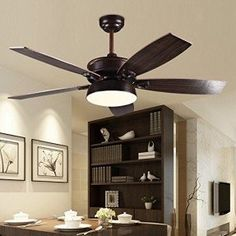 Ceiling fan with 5 wood grain blades. Functional design for all kinds of interiors according to taste and need. Simple form and high quality.