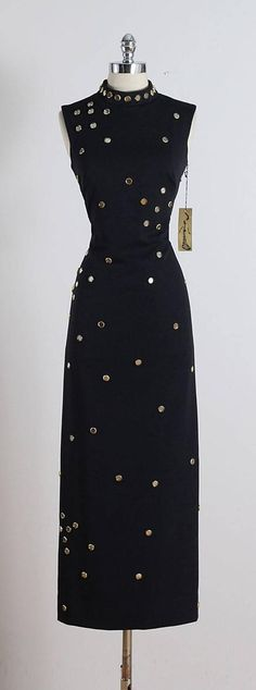 Vintage 1970s S. Eisenberg Jeweled Maxi Dress