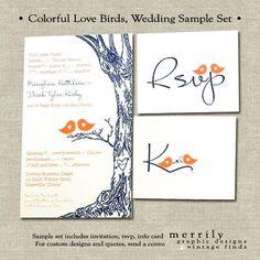 Love Birds and Oak Tree Natural Rustic Wedding by MERRILYdesigns, $3.50