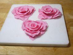 Ruffled rose heart step 13