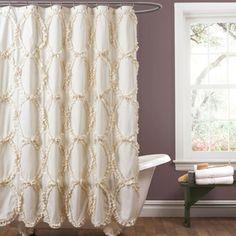 Lush Decor Riviera Ivory Shower Curtain New Bathroom Ideas Wall Shop