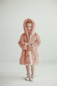 291c4ee7f5eb Pink fur coat for kids Fur jacket Long coat Winter Kids coat Baby coat Baby  gift Kids clothing Girls coat Rabbit fur coat Girl s fur coat