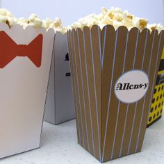For when we have our Doctor Who marathon party: Doctor Who Popcorn Holders. OH MY GOODNESS