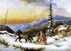"""Is Cornelius Krieghoff a """"Canadian"""" Painter? – All About Canadian History Canada Landscape, Winter Landscape, Landscape Art, Oil Painting For Sale, Paintings For Sale, Painting Art, Alex Colville, Canadian Winter, Canadian History"""