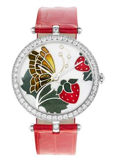 Lady Arpels Papillon Rouge Gourmand http://www.orologi.com/cataloghi-orologi/van-cleef-arpels-cadrans-extraordinaires-lady-arpels-papillon-rouge-gourmand-nd