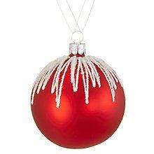Buy John Lewis Chamonix Glitter Icing Bauble, Blue Online at johnlewis.com