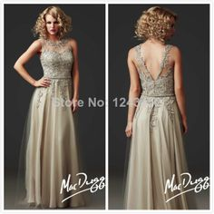 2014 Vestidos Women Summer Champagne Lace V Back Long Special Mother Of The Bride Groom Dresses For Beach Weddings A2537 US $139.80