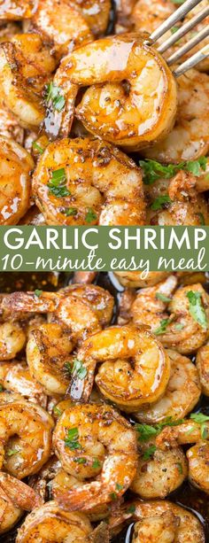 I love this simple, quick and easy Garlic Butter Sauteed Shrimp recipe. This pan… I love this simple, quick and easy Garlic Butter Sauteed Shrimp recipe. This pan-fried shrimp is tossed with an easy Italian seasoning sautéed in butter and lemon. Shrimp Recipes For Dinner, Shrimp Recipes Easy, Seafood Dinner, Seafood Recipes, Chicken Recipes, Cooking Recipes, Healthy Recipes, Meals With Shrimp, Italian Shrimp Recipes