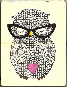 heart owl (artist unknown)