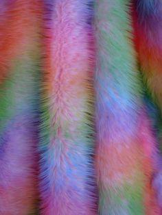 Faux fur in rainbow