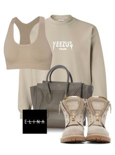 """""""Untitled #1503"""" by elinaxblack ❤ liked on Polyvore featuring CÉLINE, ibex and Balmain"""