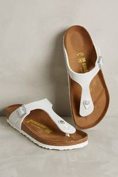 Birkenstock Gizeh Sandals Pearly White 36 Euro Sandals
