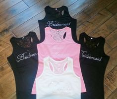 SALE 5 SHIP IMMEDIATELY Lace Bridesmaid Tank by ModernCelebrations