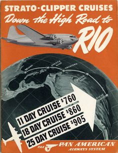 tourist information: Pan American Airways, Strato-Clipper Cruises | http://www.flysfo.com/museum