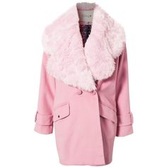 Kling St Petersbourg Coat (535 BRL) ❤ liked on Polyvore featuring outerwear, coats, jackets, coats & jackets, light pink, pink coat, kling, fur-lined coats and light pink coat