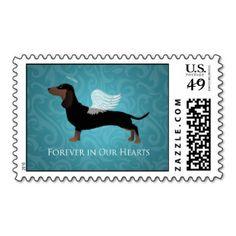 Dachshund - Pet Loss Memorial Design Postage