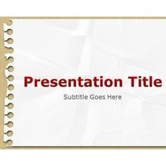 Notepad PowerPoint Template