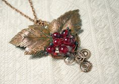 Items similar to Raspberry Copper Pendant - Red Berry - Berry Pendant - Red Pendant - Handmade Copper Pendant with Lampwork Beads - Red Berries Pendant on Etsy Handmade Necklaces, Handmade Jewelry, Etsy Handmade, Unique Jewelry, Handmade Gifts, Etsy Jewelry, Jewlery, Murano, Handmade Copper