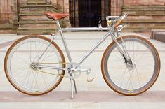 The Cosgrove Ball Board Race Special is a chrome frame bike, bespoke hand crafted bicycle with traditional old fashioned vintage retro elega...