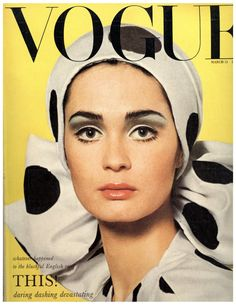 Best Vintage Vogue Covers of All Time Marie Lise Gres - Vogue UK March 1965 by Henry Clarke (Hat dress by Hardy Amies)Marie Lise Gres - Vogue UK March 1965 by Henry Clarke (Hat dress by Hardy Amies) Vogue Vintage, Capas Vintage Da Vogue, Vintage Vogue Covers, Moda Vintage, Vintage Models, Vogue Magazine Covers, Fashion Magazine Cover, Fashion Cover, 1960s Fashion