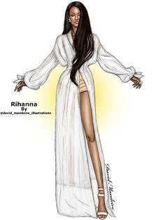 Rihanna by David Mandeiro Illustrations #Digitaldrawing