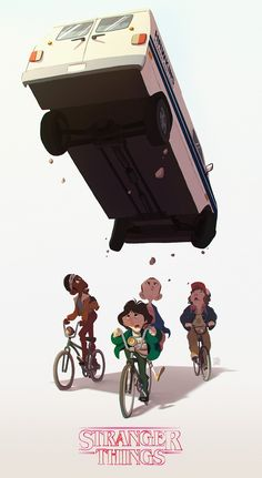 Stranger Things (Fan Art) | By Abel Tébart [Illustration - Digital - Netflix - Poster]