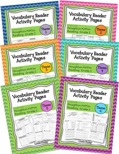Activity pages to supplement the vocabulary readers for Houghton Mifflin Reading Gr. 2. Each page includes Definition Match, Write About It, What Do You Think? and a graphic organizer for higher level thinking with categorizing, comparing, or describing using the target vocabulary. Perfect for your literacy centers! $