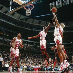 Dennis Rodman & Scottie Pippen In The Nike Air Way Up / Michael Jordan In The Air Jordan XI Concord