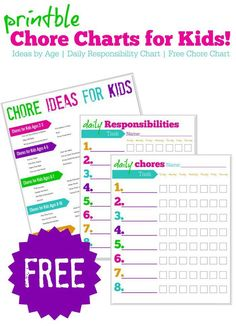 FREE Printable Chore Charts for Kids Online! This is one of our favorite ways to get our kids to complete their tasks!