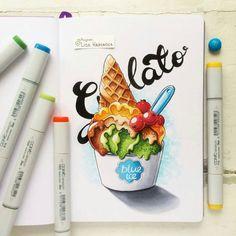«У одного из наших художников-авторов сегодня важная творческая дата... Год назад @lisa.krasnova запостила в Instagram свой первый скетч – мороженое из…»